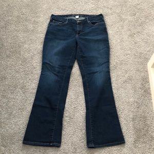 Eddie Bauer dark bootcut slightly curvy fit 14